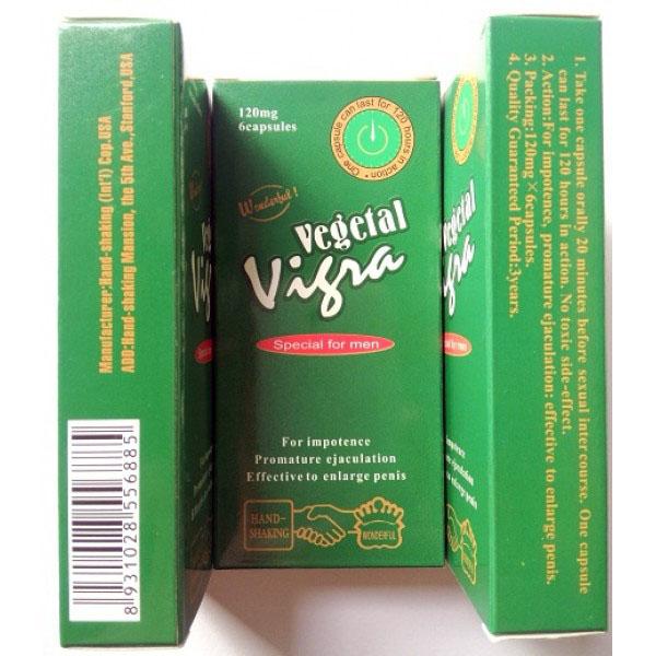 Thuốc uống tăng cường ham muốn nam Vegetal Vigra Mỹ