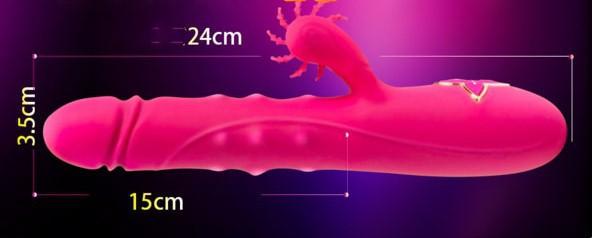 Shop dương vật nam giả silicon rung thụt đa năng kết hợp lưỡi liếm phát nhiệt Esther kích thích tình dục nam nữ cao cấp