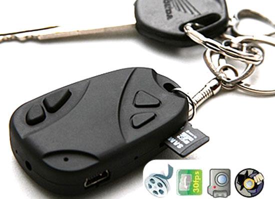 Hình ảnh mẫu camera ngụy trang móc khóa cải tiến Lưu Thẻ Nhớ Máy quay lén kín đáo an toàn